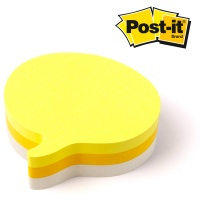 Post-it® Notes Speech Bubble Shaped