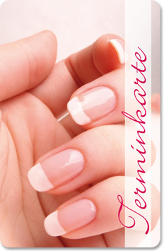 "Terminkarte ""french nails"""
